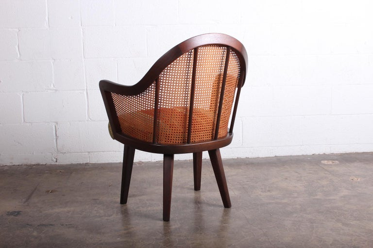 Cane Armchair Attributed to Harvey Probber For Sale 1