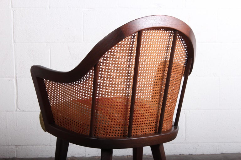 Cane Armchair Attributed to Harvey Probber For Sale 2