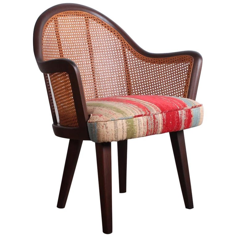 Cane Armchair Attributed to Harvey Probber For Sale