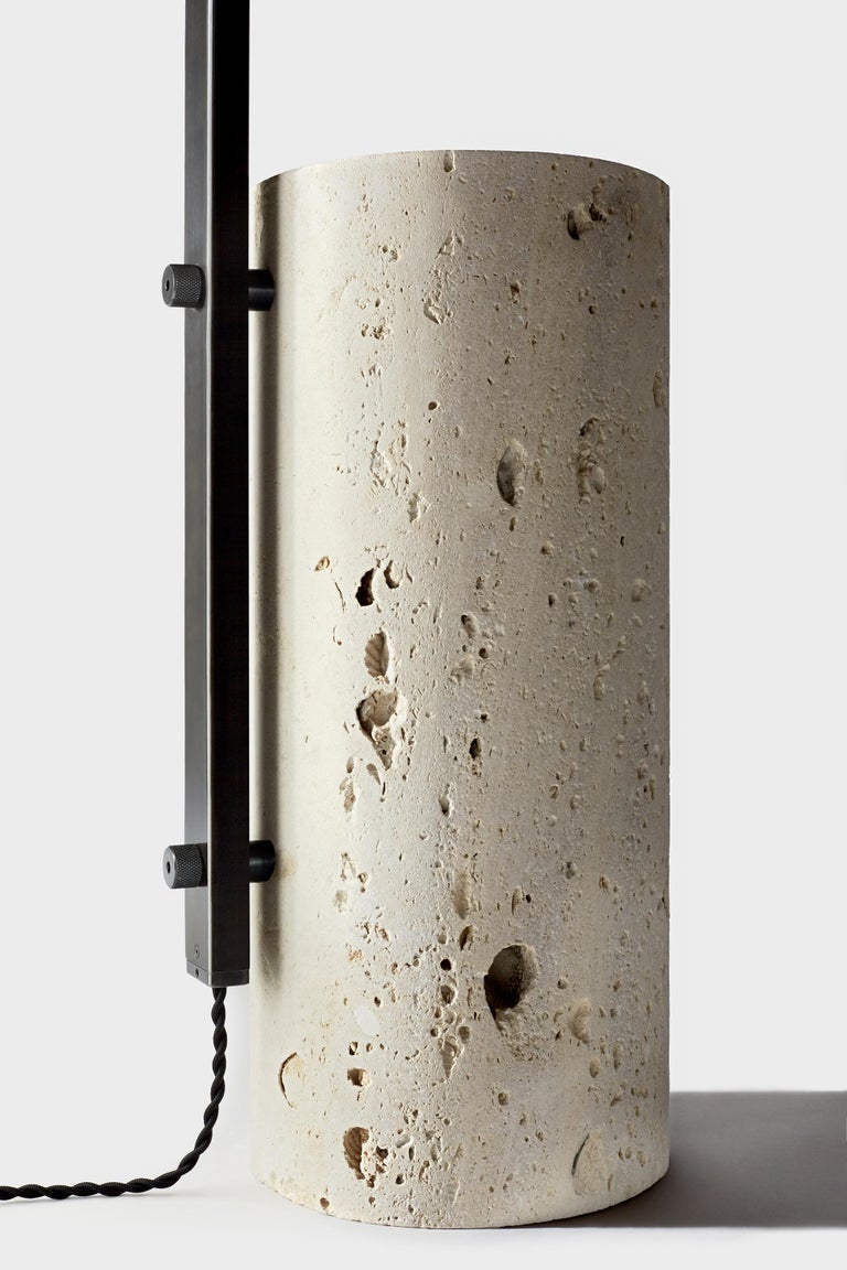 American Cane Floor Lamp by AlexAllen Studio in Gunmetal Black For Sale