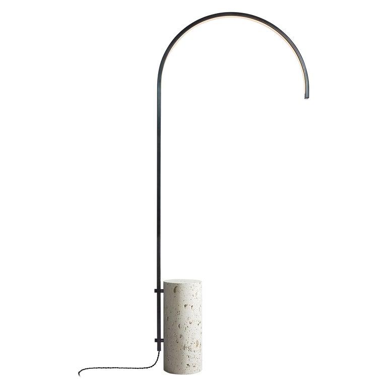 Cane Floor Lamp by AlexAllen Studio in Gunmetal Black For Sale