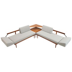 Cane Panels FD451 Sofa, Daybed Seating Group by Peter Hvidt & Orla Molgaard