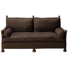 Cane Sofa in Textured Wool Blend by Pierre Frey