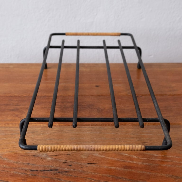 Danish Cane Wrapped Rack by Laurids Lonborg of Denmark For Sale