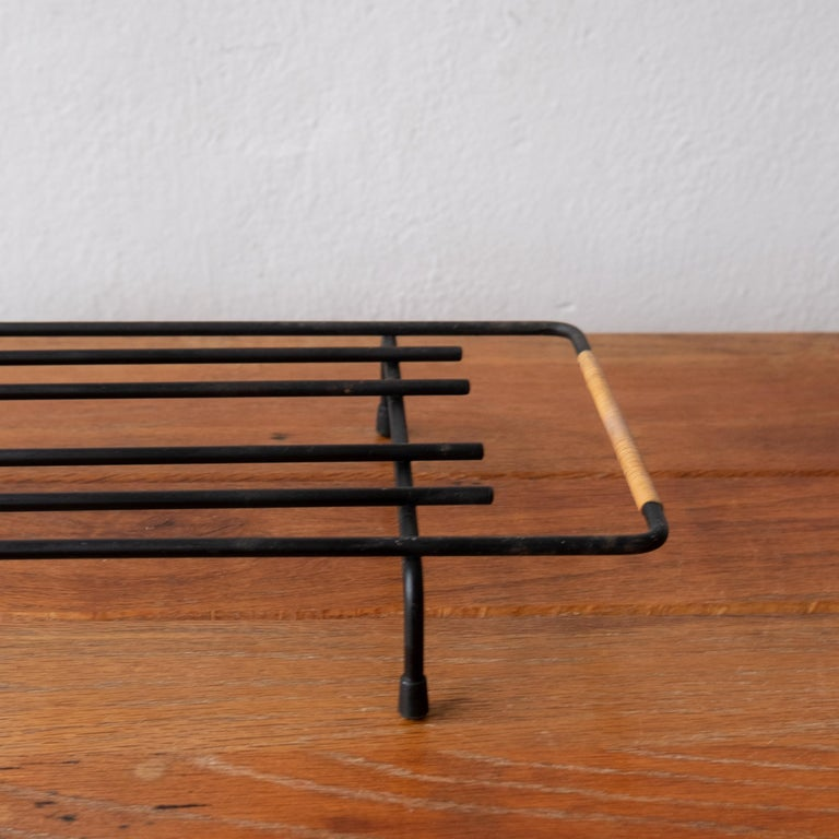 Cane Wrapped Rack by Laurids Lonborg of Denmark In Good Condition For Sale In San Diego, CA