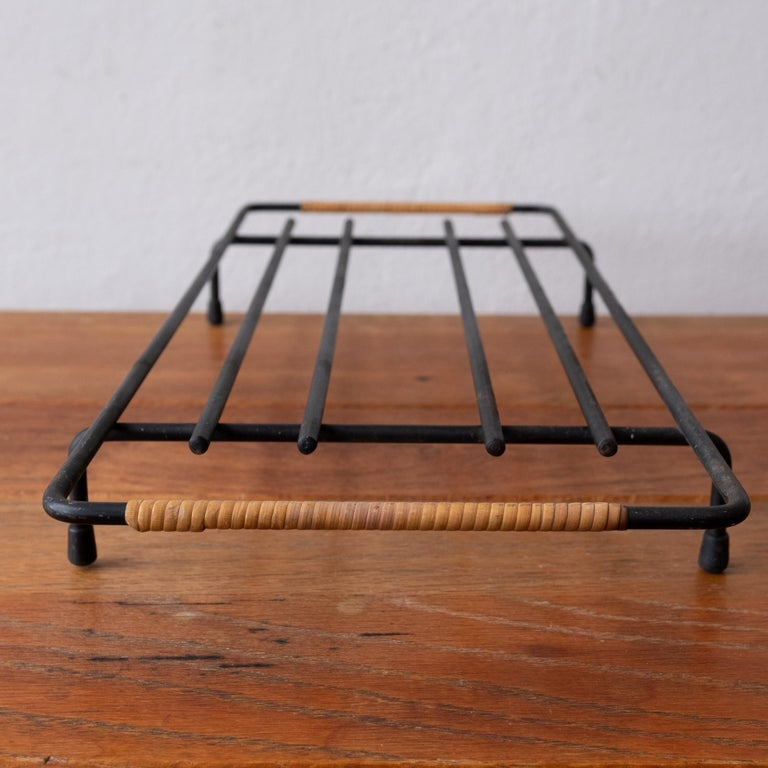Mid-20th Century Cane Wrapped Rack by Laurids Lonborg of Denmark For Sale