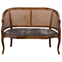 Caned Back Love Seat or Bench