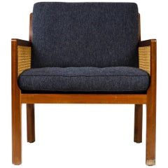 Caned Lounge Chair by Bernt Petersen for Worts Mobelsnedkeri