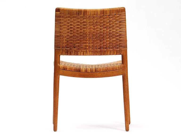 Mid-20th Century Caned Oak Chairs by Hans Wegner For Sale