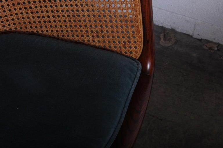 Caned Swivel Desk Chair by Ward Bennett For Sale 8