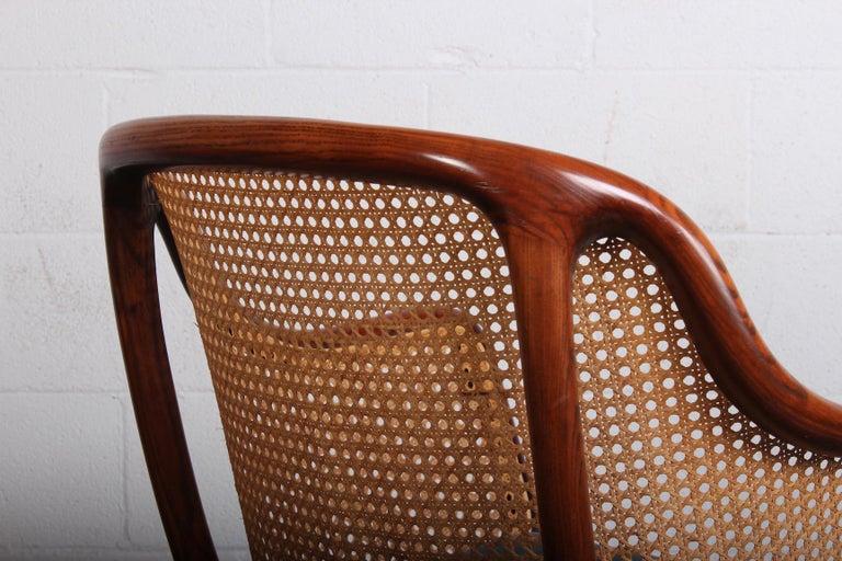 Caned Swivel Desk Chair by Ward Bennett For Sale 1