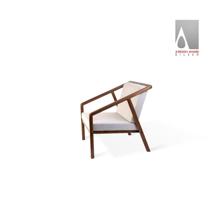South American Canela Contemporary Armchair in Brazilian Hardwood by Knót Artesanal For Sale