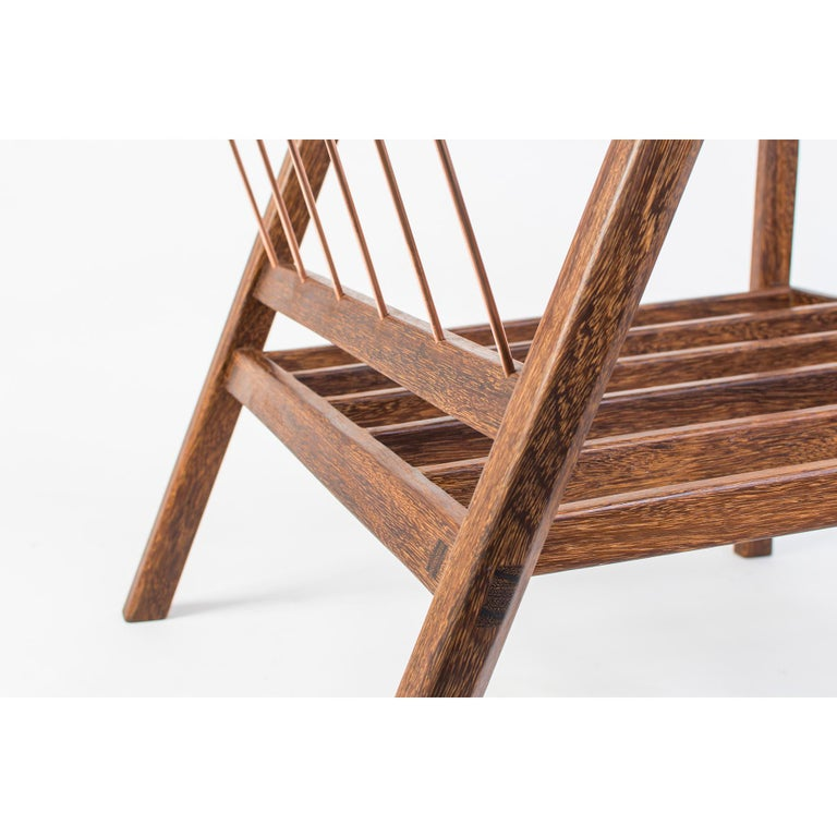 Canela Contemporary Armchair in Brazilian Hardwood by Knót Artesanal In New Condition For Sale In Paraty, Rio de Janeiro