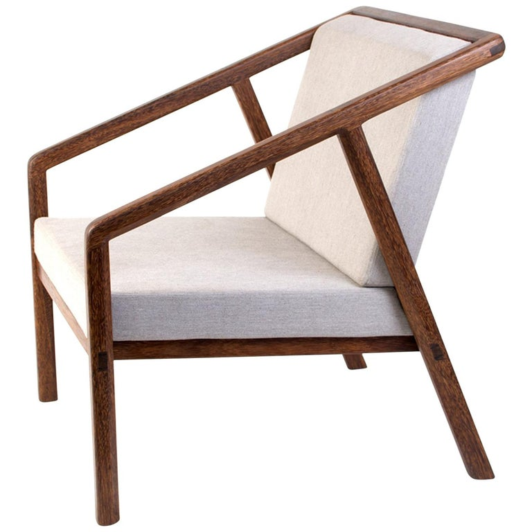 Canela Contemporary Armchair in Brazilian Hardwood by Knót Artesanal For Sale