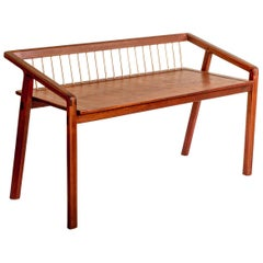 Canela for Two Contemporary Bench in Brazilian Hardwood by Knót Artesanal