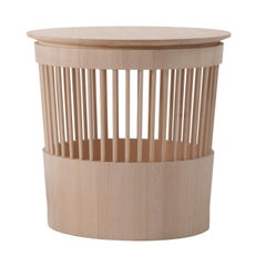 Canestro Ash Side Table and Basket by Enrico Tonucci