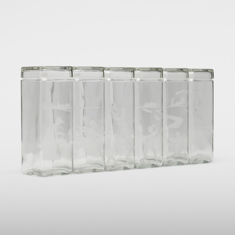 Etched Canisters by Kara Walker For Sale