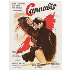 'Cannabis' Original Vintage French Movie Poster by Georges Allard, 1970