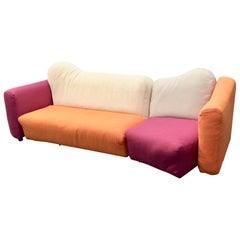 Cannaregio Sofa Design Gaetano Peace for Cassina Two Pieces Sofa, circa 1980s