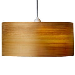 CANNEA Cypress Wood Drum Chandelier Pendant