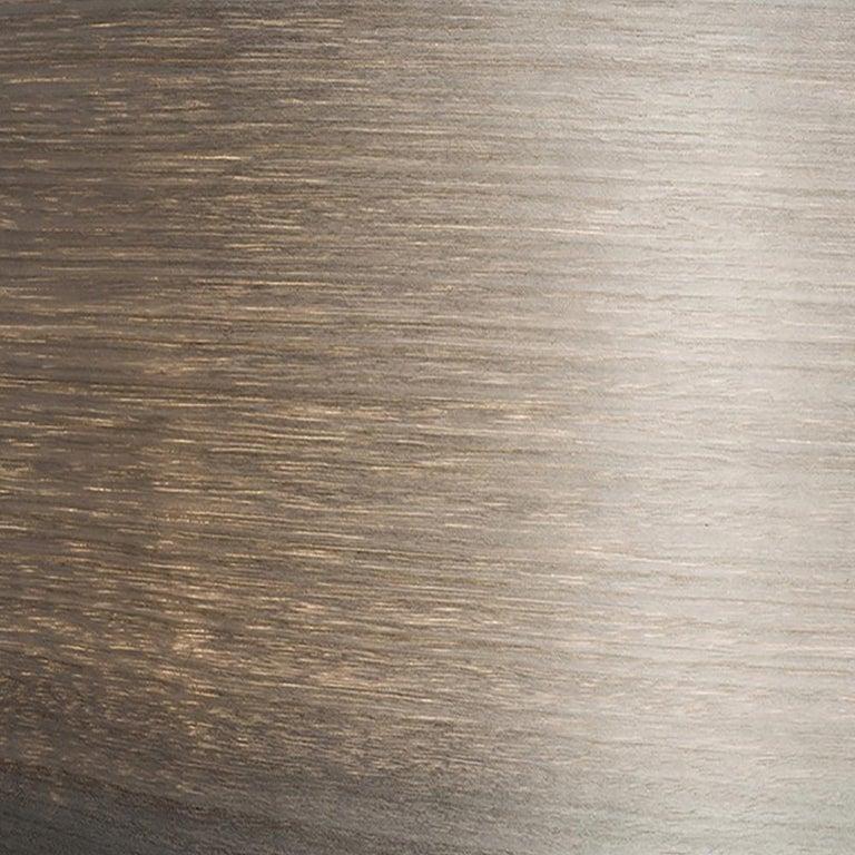 Hand-Crafted Mid-Century Modern gray wood veneer drum pendant For Sale