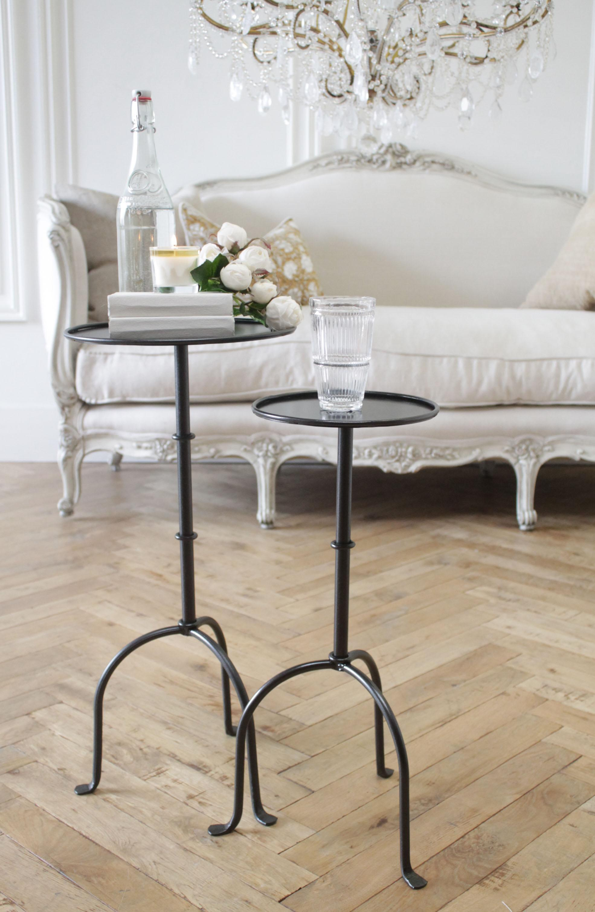 Picture of: Cannes French Inspired Small Iron Drink Table In Iron Finish Or Brass Finish At 1stdibs