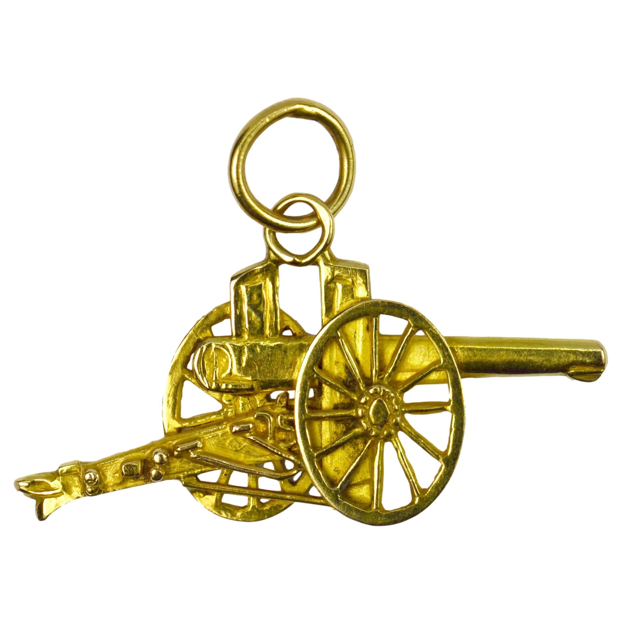 Cannon 18k Yellow Gold Charm Pendant