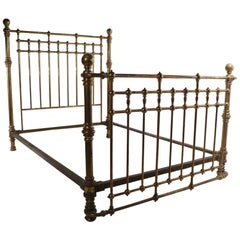 Cannonball Victorian Brass Bed Queen Size