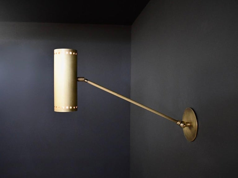 Mid-Century Modern Cannula Modern Bronze Wall Lamp or Sconce by Blueprint Lighting, 2020 For Sale