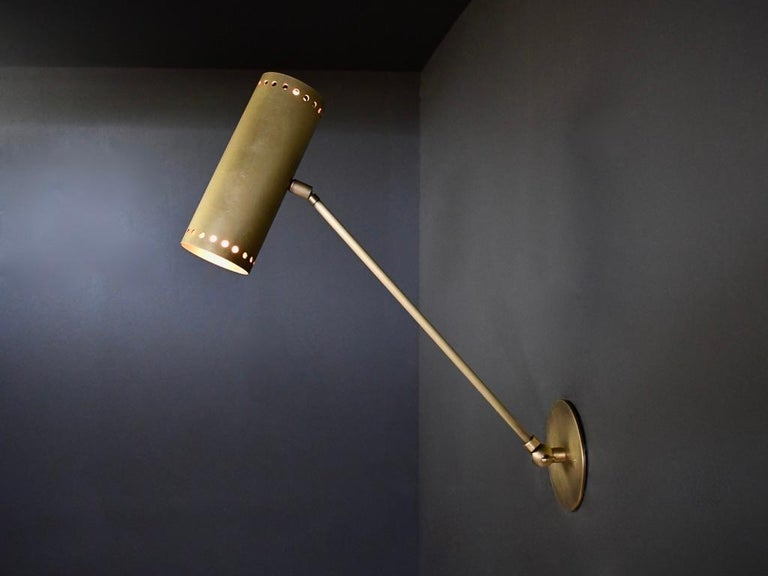 American Cannula Modern Bronze Wall Lamp or Sconce by Blueprint Lighting, 2020 For Sale