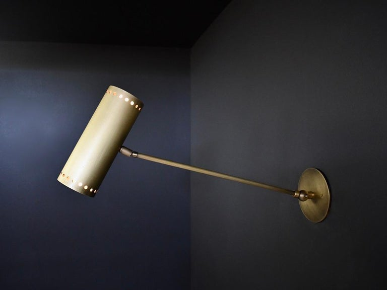 Cannula Modern Bronze Wall Lamp or Sconce by Blueprint Lighting, 2020 In New Condition For Sale In New York, NY