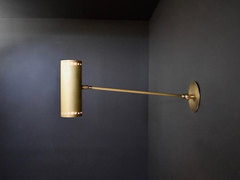 Contemporary Cannula Modern Bronze Wall Lamp or Sconce by Blueprint Lighting, 2020 For Sale