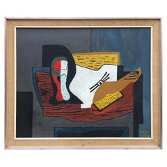 """Cano, """"composition"""" Oil on Canvas Signed and Dated 1969"""