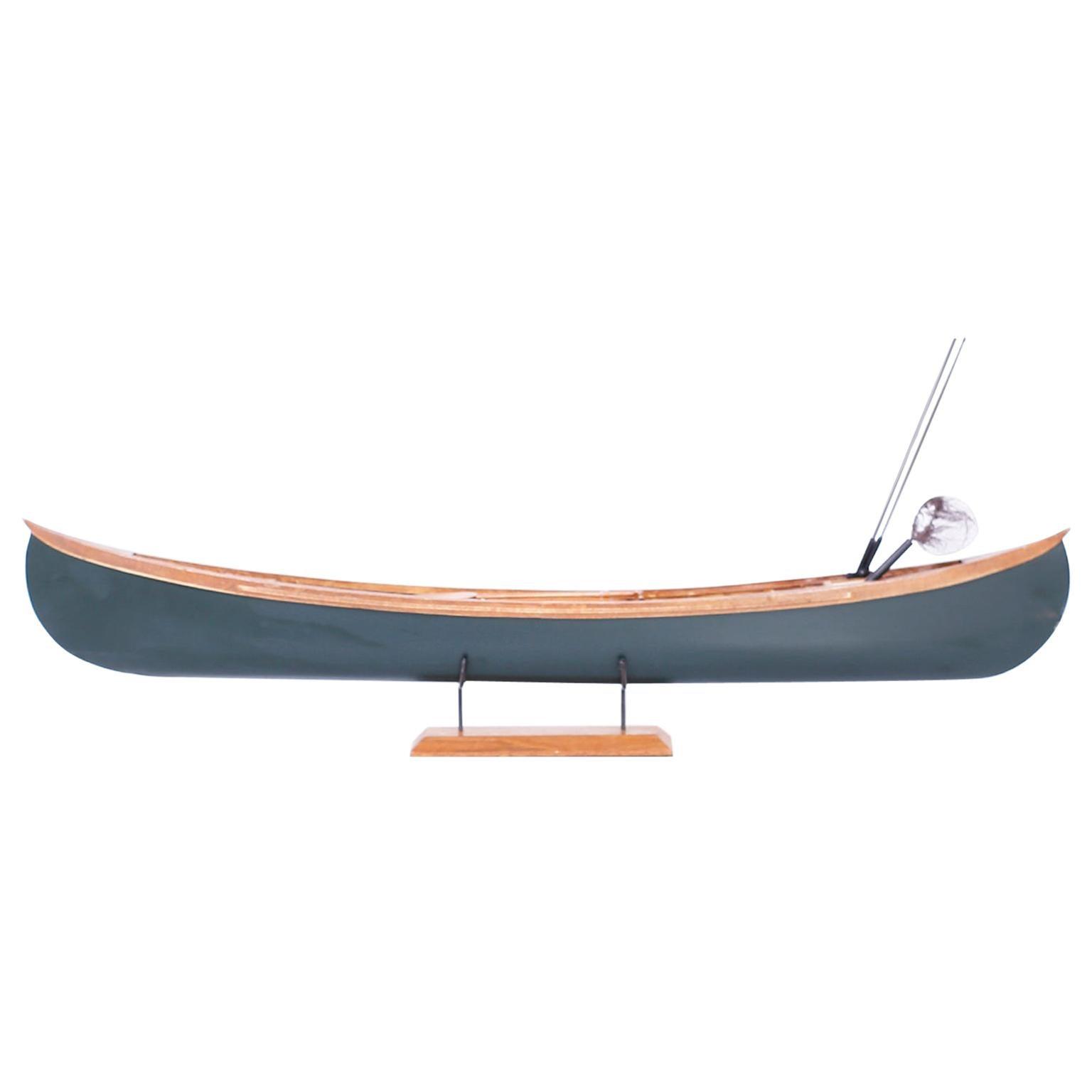 Canoe Model on Stand