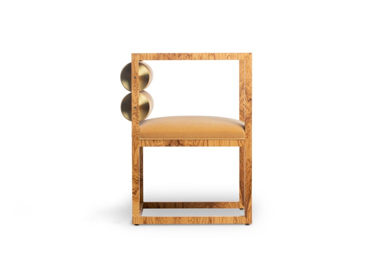 American Canon Armchair in Camel from the Qualia Collection by Azadeh Shladovsky For Sale