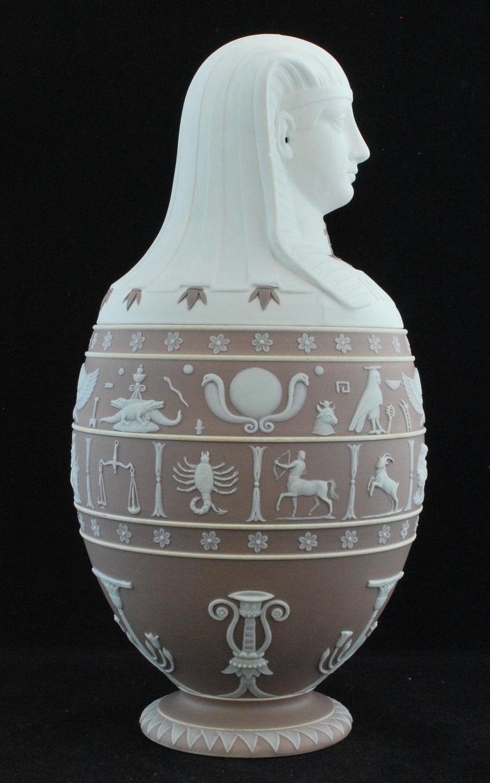 English Canopic Jar, Lilac Jasperware Wedgwood, 1877 For Sale