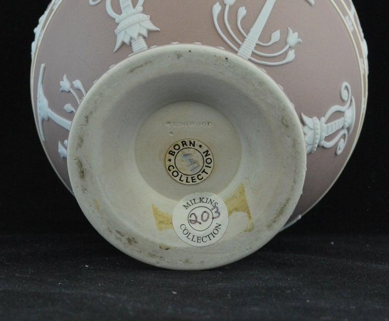 Molded Canopic Jar, Lilac Jasperware Wedgwood, 1877 For Sale