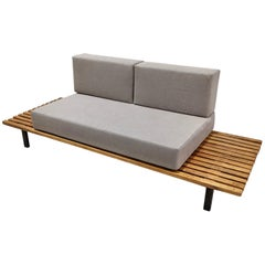 Cansado Bench by Charlotte Perriand 1954 with Cushions