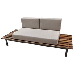 Cansado Bench by Charlotte Perriand with Mattress and Cushion