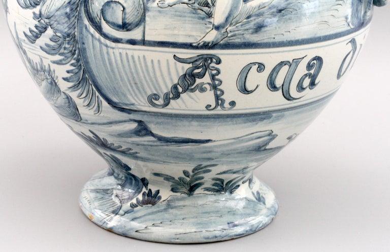 Cantagalli Italian Maiolica Acqa di Papueri Drug Jar, 19th Century For Sale 5