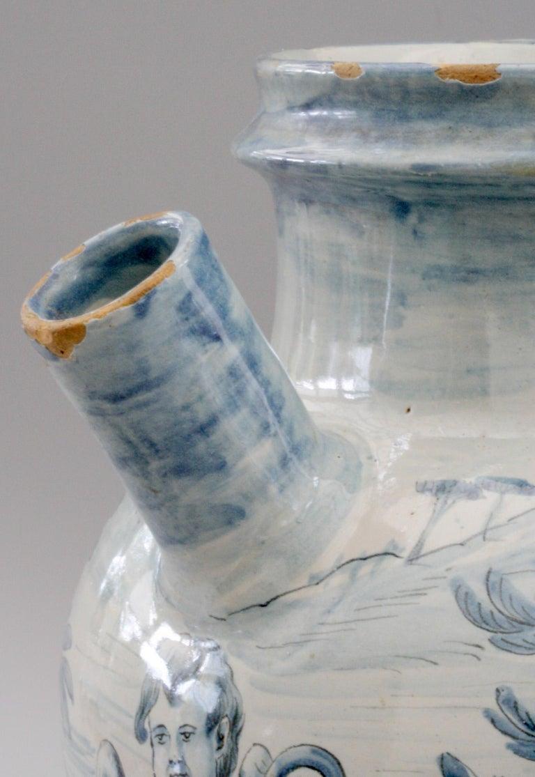 Cantagalli Italian Maiolica Acqa di Papueri Drug Jar, 19th Century For Sale 8