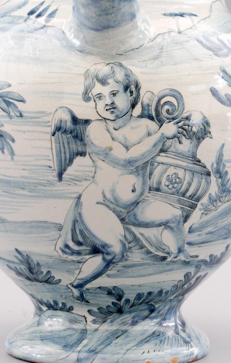 Cantagalli Italian Maiolica Acqa di Papueri Drug Jar, 19th Century For Sale 9