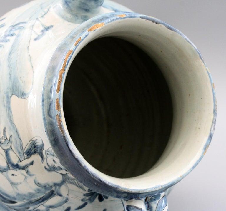 Cantagalli Italian Maiolica Acqa di Papueri Drug Jar, 19th Century For Sale 3