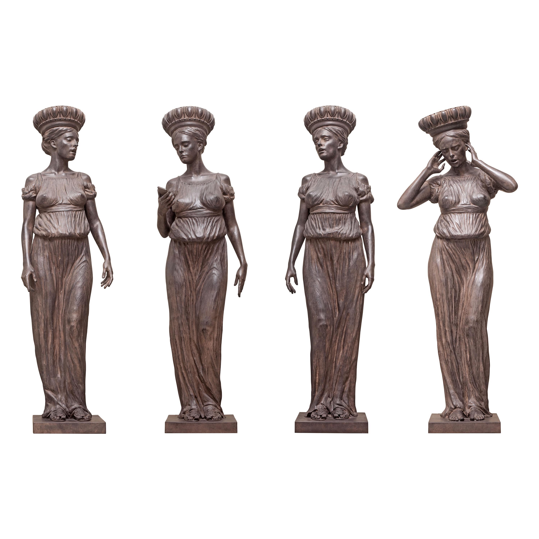 'Cantata iTunes Grande' Four Bronze Sculptures by Alexey Morosov