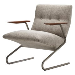"""Cantilever"" Armchair by George Van Rijck for Beaufort, Belgium, 1960s"