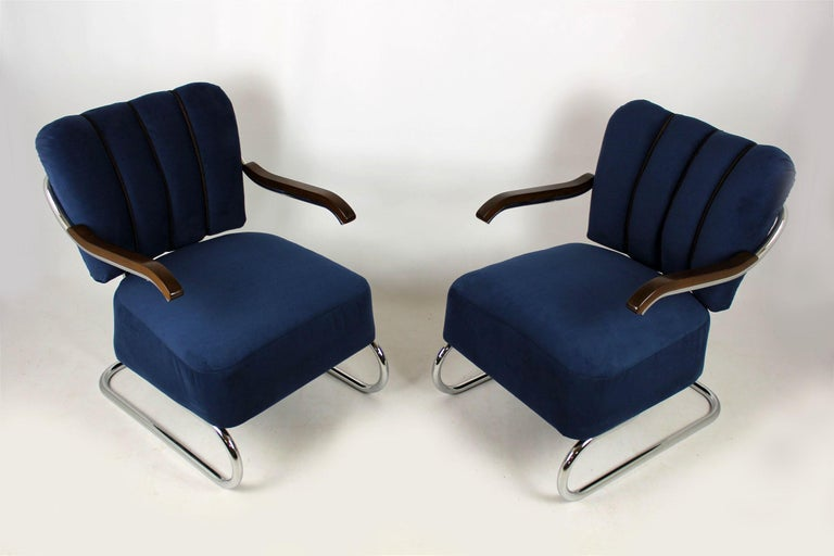 Cantilever Armchairs from Mücke Melder, 1930s, Set of Two For Sale 3