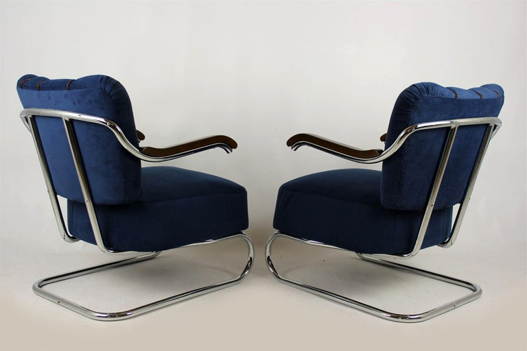 Cantilever Armchairs from Mücke Melder, 1930s, Set of Two For Sale 5