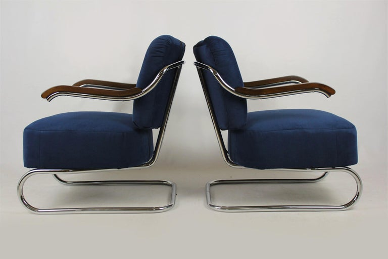 Cantilever Armchairs from Mücke Melder, 1930s, Set of Two For Sale 7