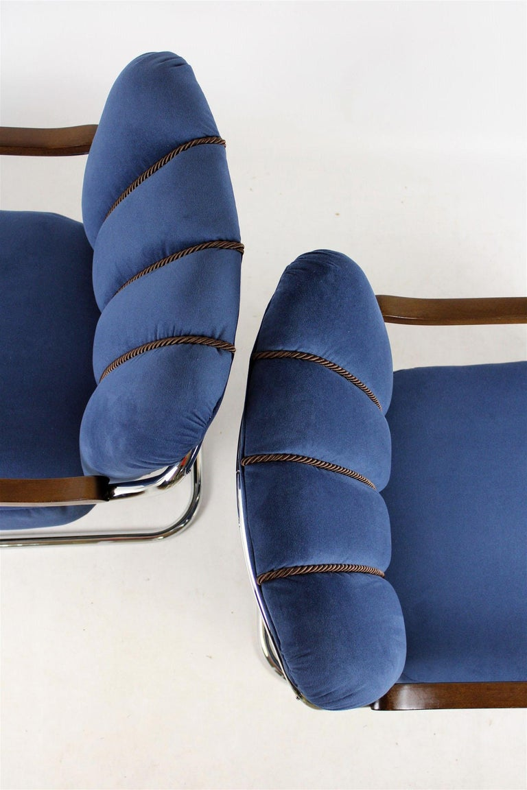 Czech Cantilever Armchairs from Mücke Melder, 1930s, Set of Two For Sale