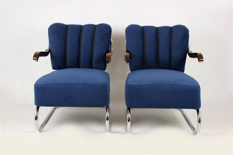 Cantilever Armchairs from Mücke Melder, 1930s, Set of Two In Excellent Condition For Sale In Zory, PL